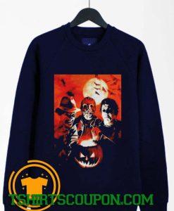 Halloween Movie Characters Freddy Jason Michael Sweatshirt