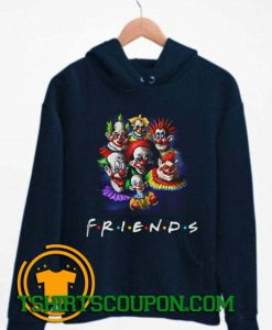 Halloween Scary Clowns Drawing Friends Hoodie By Tshirtscoupon.com