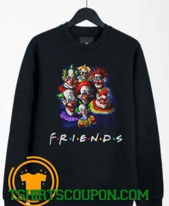Halloween Scary Clowns Drawing Friends Sweatshirt