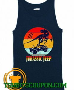 Jurassic Jeep Vintage Halloween 2020 Tank Top By Tshirtscoupon.com
