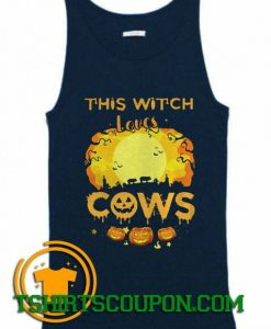 This Witch Loves Guinea Cows Pumpkin Halloween Tank Top