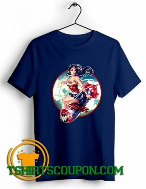 Wonder Woman Bomb Graphic Unique trends tees shirts