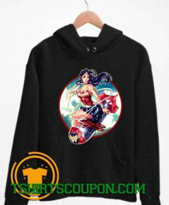 Wonder Woman Bomb Graphic Hoodie By Tshirtscoupon.com