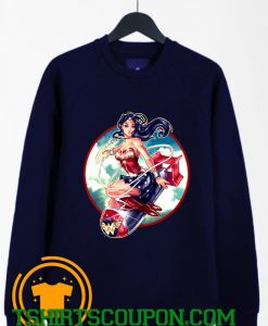 Wonder Woman Bomb Graphic Sweatshirt By Tshirtscoupon.com