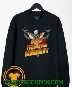 Do Not Feed After Midnight Gremlins Bat Sweatshirt By Tshirtscoupon.com