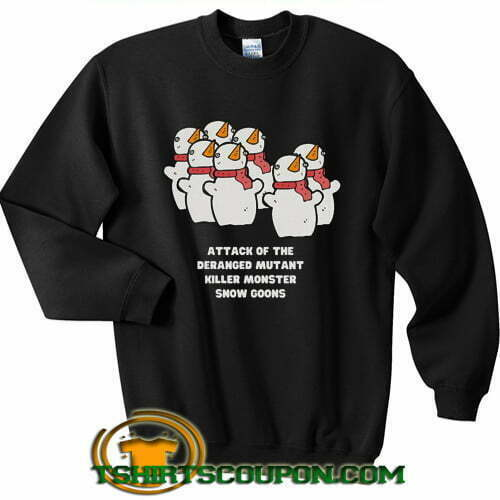 Attack Monster Snow Goons Calvin Snowman sweatshirt