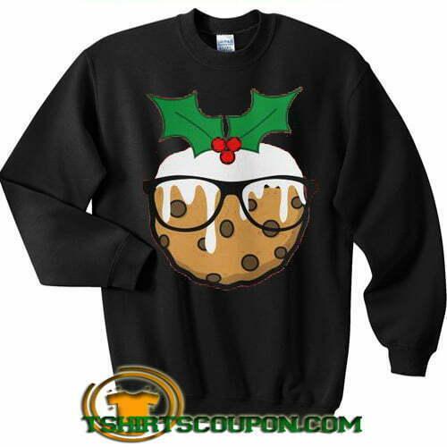British Baking Cookie Glasses Christmas Sweatshirt