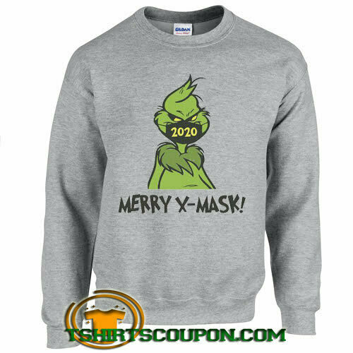 Funny Grinch x mask Christmas Sweatshirt