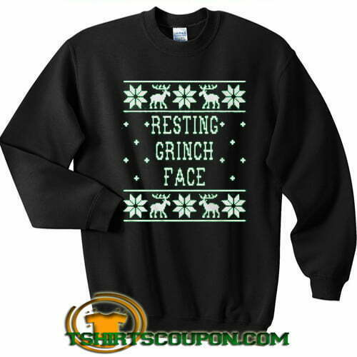Resting Grinch Face Ugly Christmas Sweatshirt